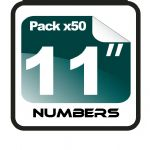 "11"" Race Numbers - 50 pack"
